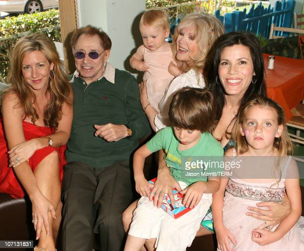 Joely Fisher, Eddie Fisher, Connie Stevens, and Tricia Leigh Fisher with family