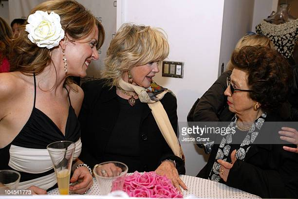 Joely Fisher in vintage Loris Azzaro Connie Stevens and Nancy Sinatra Sr