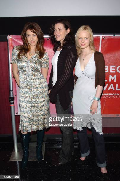 Joely Fisher, Julianna Margulies and Thora Birch during 4th Annual Tribeca Film Festival - Slingshot - Press Conference at Regal Cinemas in New York...