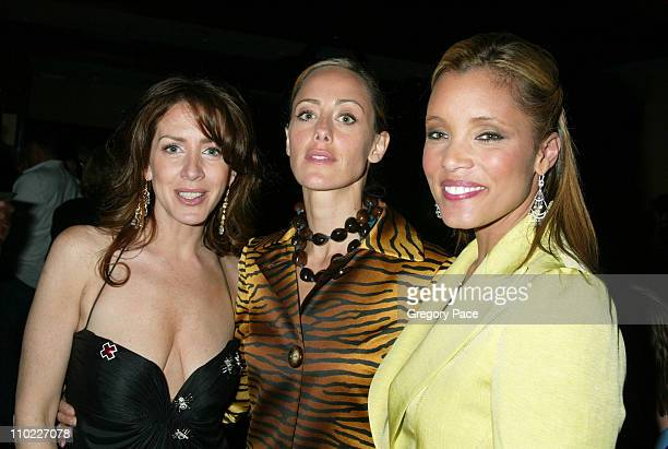 Joely Fisher Kim Raver and Michael Michele during Conde Nast Traveler Hot List Party for 2005 at Megu in New York City New York United States
