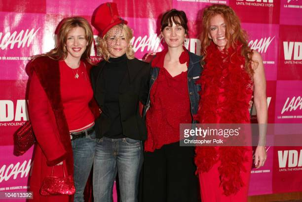Joely Fisher Maria Bello CarrieAnn Moss and during VDay LA 2003 Benefitting VDay and LACAAW Arrivals at The Directors Guild Theatre in Los Angeles CA...