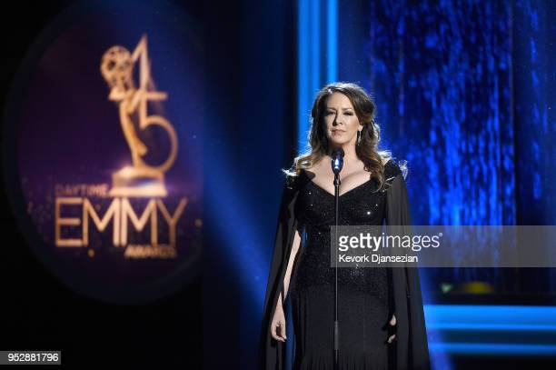 Joely Fisher performs onstage during the 45th annual Daytime Emmy Awards at Pasadena Civic Auditorium on April 29 2018 in Pasadena California