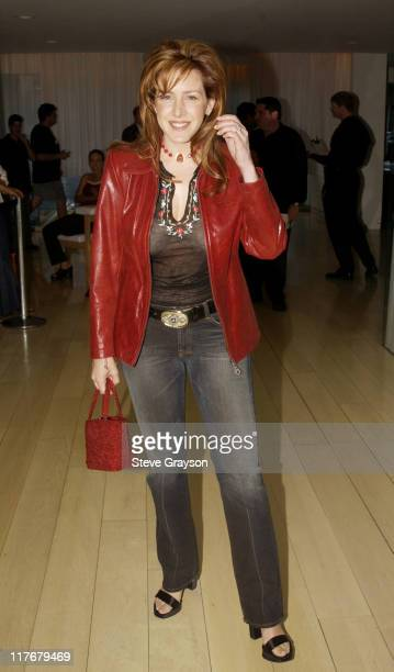 Joely Fisher poses for photographers at the Los Angeles Lakers victory celebration at Ian Schrager's Ultra Chic Mondrian Hotel