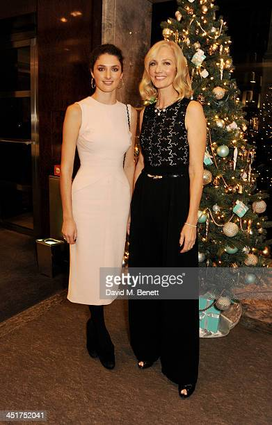 Joely Richardson and daughter Daisy Bevan attend as Joely Richardson officially opens the Tiffany Co Christmas Shop on Bond Street London on November...