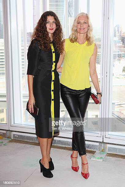Joely Richardson and daughter Daisy Richardson attend the Roksanda Ilincic show during London Fashion Week SS14 at TopShop Show Space on September 16...