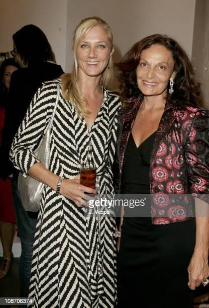 Joely Richardson and Diane Von Furstenberg during Diane von Furstenberg Los Angeles Store Opening Cocktail Party at Diane von Furstenberg Boutique in...