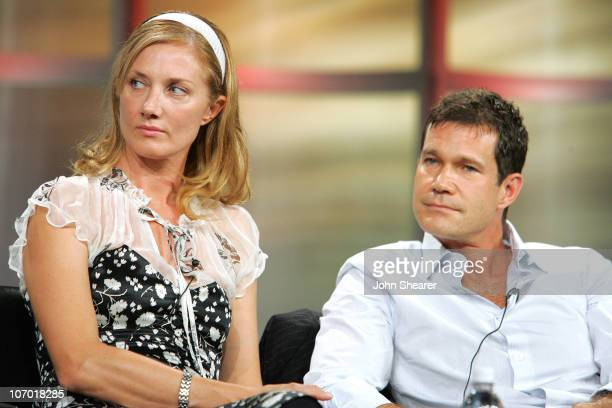 Joely Richardson and Dylan Walsh of 'Nip/Tuck' during Fox Summer 2006 TCA Press Tour at Ritz Carlton in Pasadena California United States