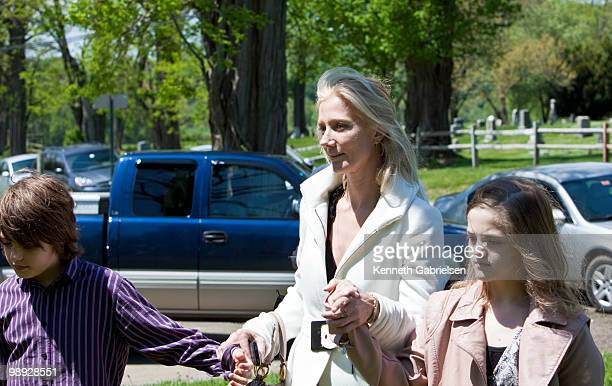 Joely Richardson and family and friends attend the funeral services for actress Lynn Redgrave at St Peter's Cemetery on May 8 2010 in Lithgow New York