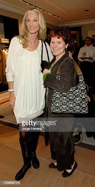 Joely Richardson and Imelda Staunton at the Ballantyne Charity Party in benefit of the Helen Bamber Foundation held at the Ballantyne store on New...