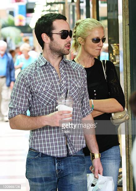 Joely Richardson and John Hensley during Joely Richardson and John Hensley Sighting in Auckland City February 24 2006 at Queen St in Auckland New...