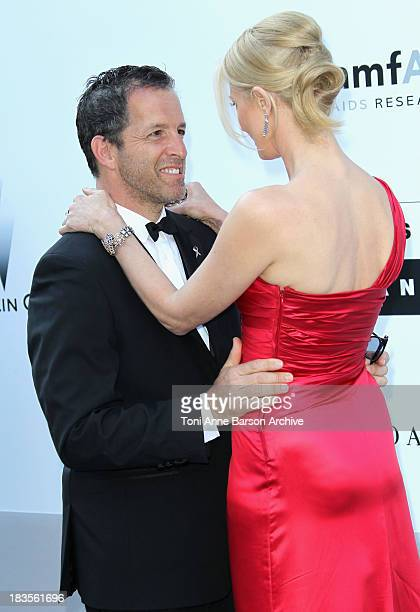 Joely Richardson and Kenneth Cole attend the amfAR Cinema Against AIDS 2010 at the Hotel du Cap during the 63rd Annual Cannes Film Festival on May 20...