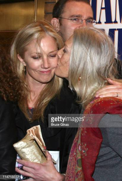 Joely Richardson and mother Vanessa Redgrave during 'The Year of Magical Thinking' Broadway Opening Night at The Booth Theatre in New York City New...
