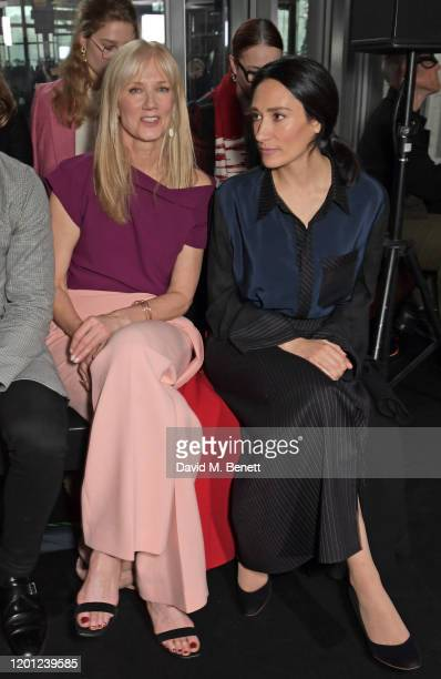 Joely Richardson and Sian Clifford attend the Roland Mouret show during London Fashion Week February 2020 at The National Theatre on February 16 2020...