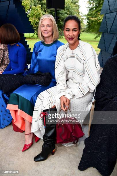 Joely Richardson and Zawe Ashton attend the Roksanda show during London Fashion Week September 2017 on September 18 2017 in London England