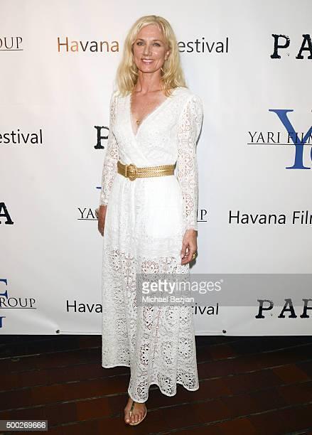 Joely Richardson arrives at the Premiere of Papa In Havana on December 5 2015 in Havana Cuba