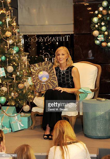 Joely Richardson as Joely Richardson officially opens the Tiffany Co Christmas Shop on Bond Street London on November 24 2013 in London England