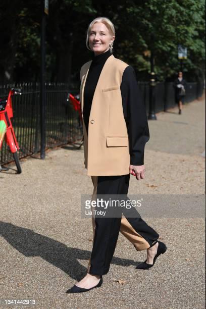 Joely Richardson attend the Roksanda show during London Fashion Week September 2021 at the Serpentine Gallery, Kensington Gardens on September 20,...