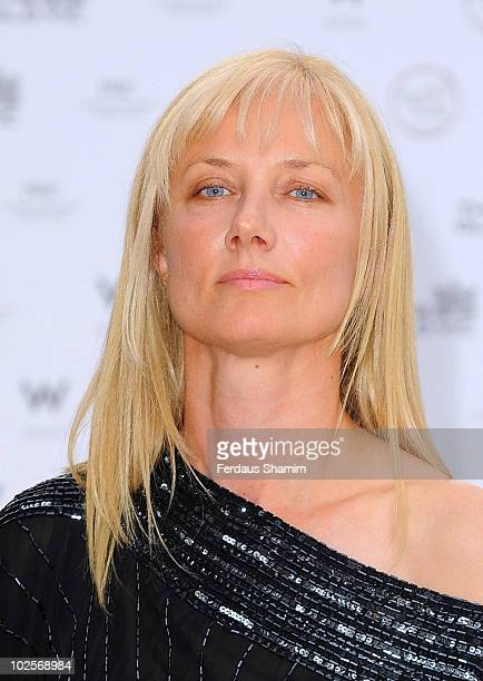 Joely Richardson attends a summer fundraising party for The Old Vic Theatre at Battersea Power station on July 1 2010 in London England