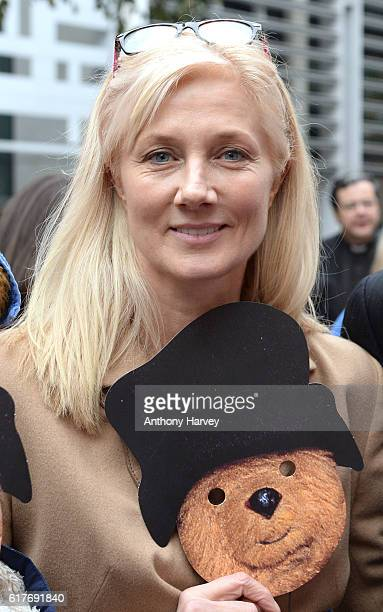 Joely Richardson attends an action outside the Home Office about child refugees at Home Office on October 24 2016 in London England