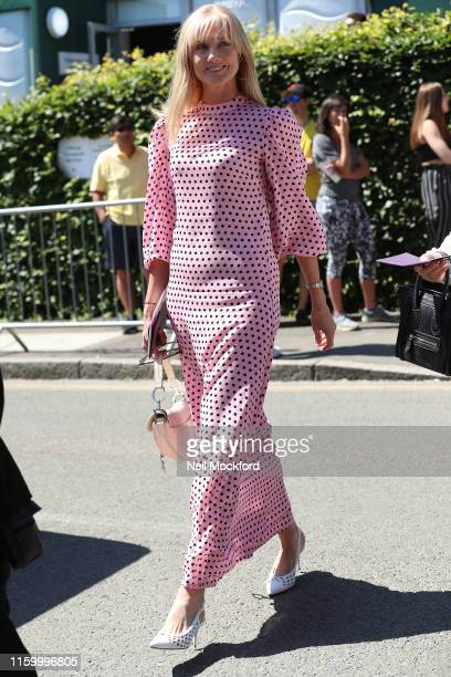 Joely Richardson attends day 4 of the Wimbledon 2019 Tennis Championships at All England Lawn Tennis and Croquet Club on July 04 2019 in London...