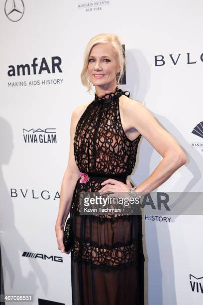 Joely Richardson attends the 2014 amfAR New York Gala at Cipriani Wall Street on February 5 2014 in New York City