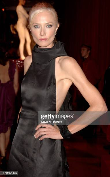 Joely Richardson attends the Cartier VIP dinner to celebrate the reopening of their New Bond St store at the Natural History Museum on October 17...