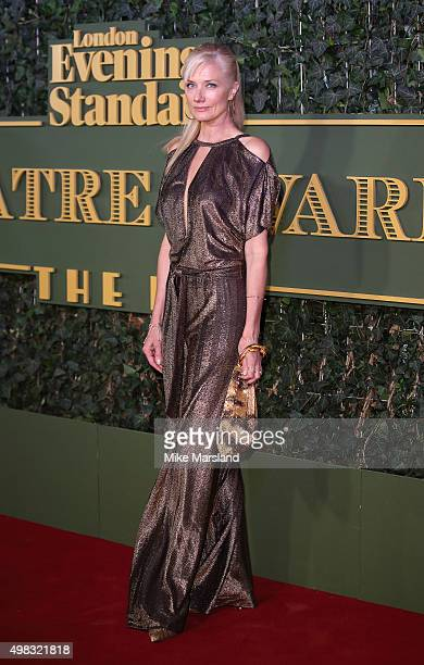 Joely Richardson attends the Evening Standard Theatre Awards at The Old Vic Theatre on November 22 2015 in London England