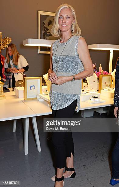 Joely Richardson attends the launch of the new 'Jade Jagger' New Bond Street showroom on May 6 2014 in London England