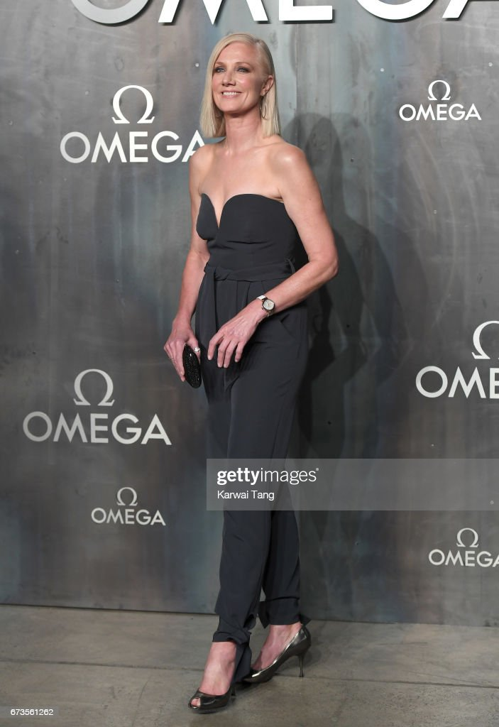 Joely Richardson attends the Lost In Space event to celebrate the 60th anniversary of the OMEGA Speedmaster at the Tate Modern on April 26, 2017 in London, United Kingdom. The OMEGA Speedmaster Watch has been worn by every piloted NASA mission since 1965.