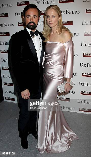Joely Richardson attends the Love Ball London at the Roundhouse on February 23 2010 in London England The event was hosted by Russian model Natalia...