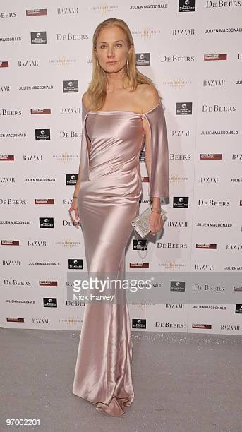 Joely Richardson attends the Love Ball London hosted by Natalia Vodianova and Harper's Bazaar as part of London Fashion Week Autumn/Winter 2010 in...