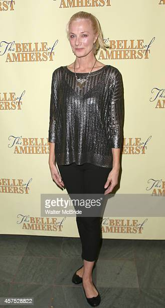Joely Richardson attends the OffBroadway Opening Night Press reception for 'The Belle of Amherst' at the Westside Theatre on October 19 2014 in New...