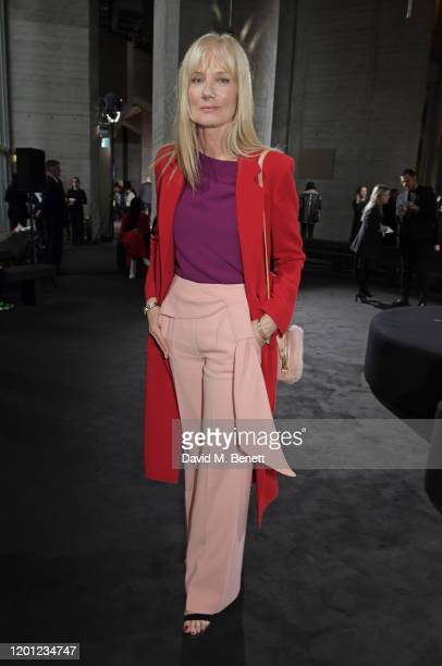 Joely Richardson attends the Roland Mouret show during London Fashion Week February 2020 at The National Theatre on February 16 2020 in London England