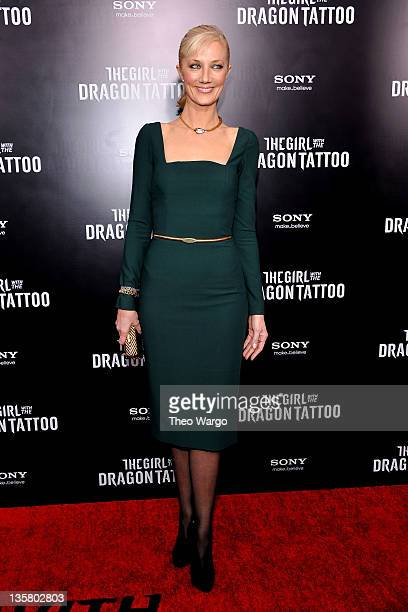 """Joely Richardson attends the """"The Girl With the Dragon Tattoo"""" New York premiere at Ziegfeld Theater on December 14, 2011 in New York City."""
