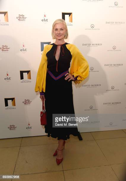 Joely Richardson attends the World of Stradivari gala hosted by David Morris at Spencer House in aid of ArtPoint Foundation on June 8 2017 in London...