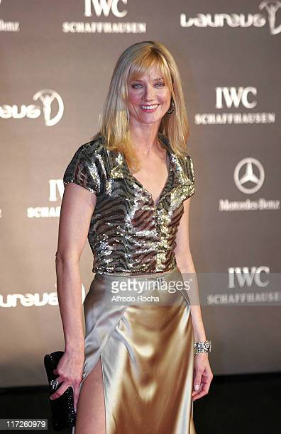 Joely Richardson during Laureus Vogue Welcome Party Arrivals at Farol Design Hotel in Cascais Portugal