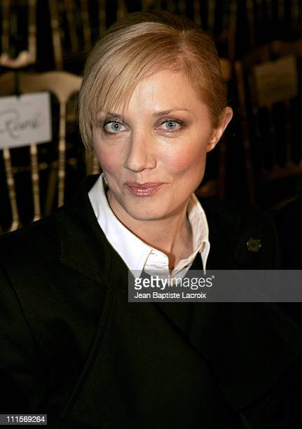 Joely Richardson during Paris Fashion Week Haute Couture Spring/Summer 2005 Valentino Front Row in Paris France