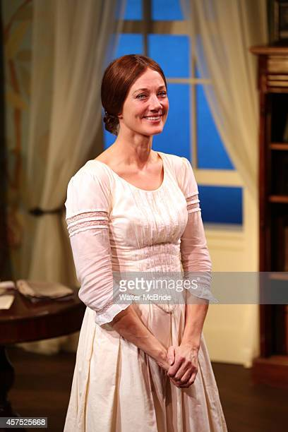 Joely Richardson during the OffBroadway Opening Night Performance Curtain Call for 'The Belle of Amherst' at the Westside Theatre on October 19 2014...