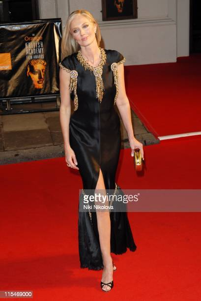 Joely Richardson during The Orange British Academy Film Awards 2007 Red Carpet Arrivals at Royal Opera House in London Great Britain
