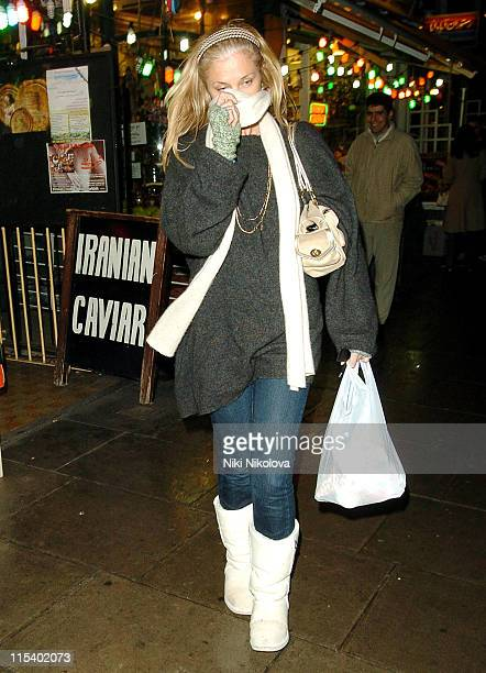 Joely Richardson *Exclusive Coverage* during Joely Richardson Sighting in West London January 27 2006 at West London in London Great Britain