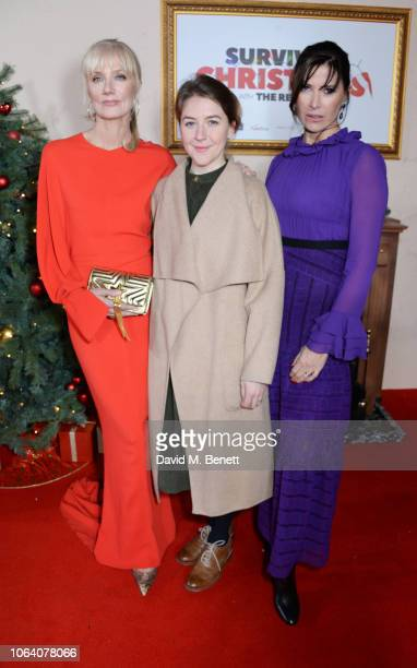 Joely Richardson Gemma Whelan and Ronni Ancona attend the World Premiere of Surviving Christmas With The Relatives at Vue West End on November 21...