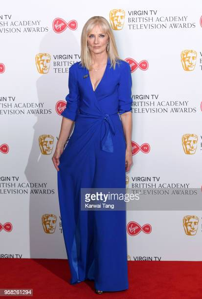 Joely Richardson poses in the press room during the Virgin TV British Academy Television Awards at The Royal Festival Hall on May 13 2018 in London...