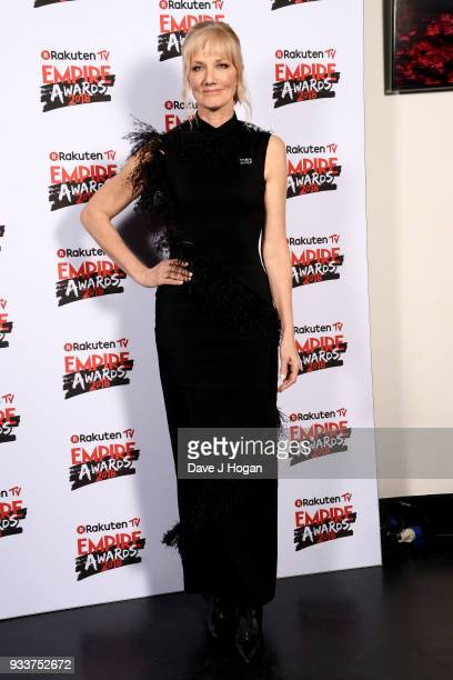 Joely Richardson poses in the winners room at the Rakuten TV EMPIRE Awards 2018 at The Roundhouse on March 18 2018 in London England