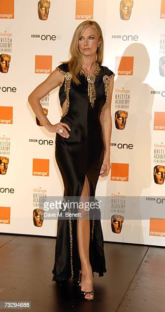 Joely Richardson poses with the XXX Award in the awards room at the Orange British Academy Film Awards at the Royal Opera House on February 11 2007...