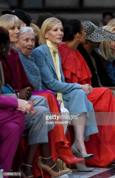 Joely Richardson Vanessa Redgrave Cate Blanchett and Zawe Ashton it front row for the Roksanda Show during London Fashion Week February 2020 on...