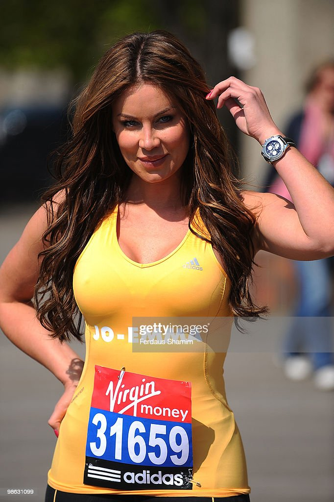 Jo-Emma Larvin attends a photocall for the 2010 Virgin London Marathon on April 23, 2010 in London, England.