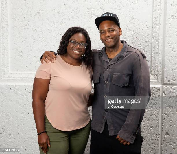 Joenique Rose and director Carey Williams pose for a portrait at the 22nd Annual American Black Film Festival at the Loews Miami Beach Hotel on June...