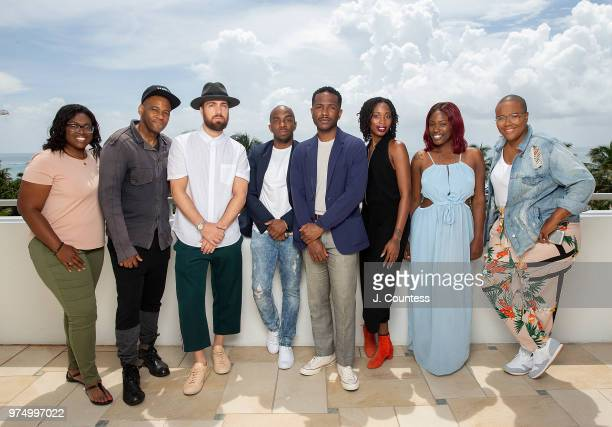 Joenique Rose directors Carey Williams Sam Sneed Alfonso Johnson Joekenneth Museau Mariama Diallo Thembi Banks and writer Roche Jeffrey pose for a...