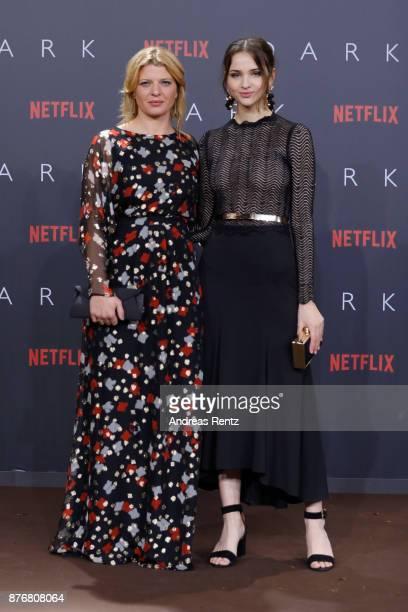 Joerdis Triebel and Lisa Vicari attend the premiere of the first German Netflix series 'Dark' at Zoo Palast on November 20 2017 in Berlin Germany