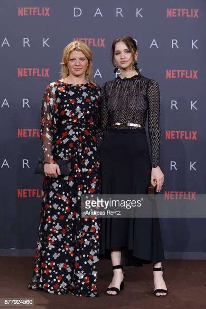 Joerdis Triebel and Lisa Vicari attend the premiere of the first German Netflix series 'Dark' at Zoo Palast on November 20 2017 in Berlin Germany